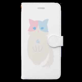 おもち屋さんのおすまし猫(1) Book-style smartphone case