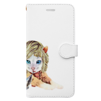 Rock catのCAT GIRL FISH Book-style smartphone case