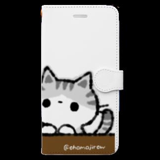 おはまじろうのお店のコハマ&コエリ猫グッズ Book-style smartphone case