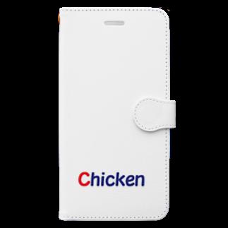 アメリカンベースの鶏肉 チキン Book-style smartphone case