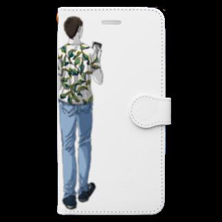 SoNo-designsの似たもの親子 Book-style smartphone case