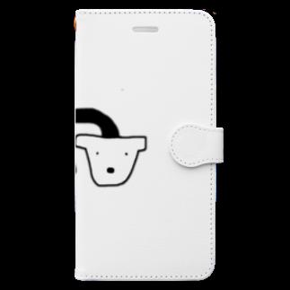 uの死シダ鉢犬 Book-style smartphone case