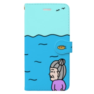 whale watching time Book-style smartphone case