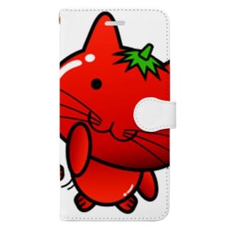 手帳型スマホケース(TOMATO CAT) Book-style smartphone case