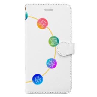 九字印(丸) Book-style smartphone case