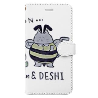 ふろあがりちゃん&弟子 蜂バージョン Book-style smartphone case