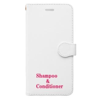 シャンプー コンディショナー Book-style smartphone case