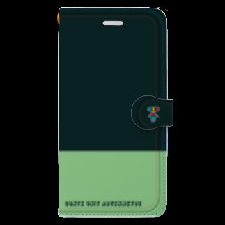 青点滅のグッズ売り場のiPhone11用 ワンポイント Book-style smartphone case
