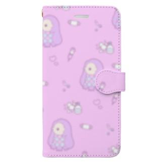 ゆめかわアマビエ Book-style smartphone case