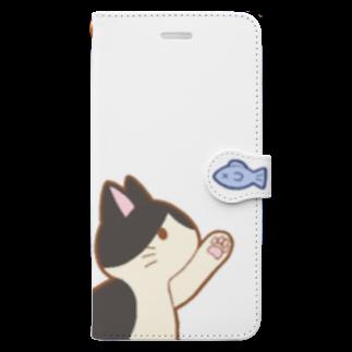 ゆめかわ屋 いそぎんちゃくのお魚にゃー 白黒ハチワレ Book-style smartphone case