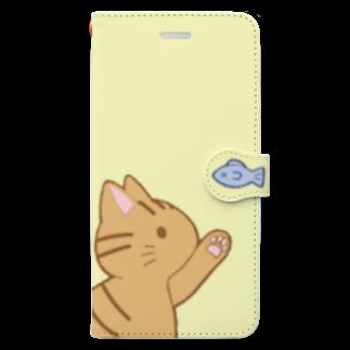 ゆめかわ屋 いそぎんちゃくのお魚にゃー 茶トラ Book-style smartphone case