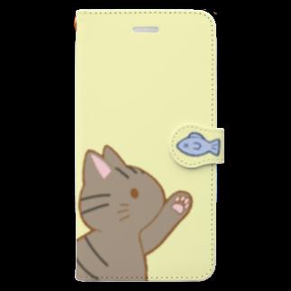 ゆめかわ屋 いそぎんちゃくのお魚にゃー キジトラ Book-style smartphone case