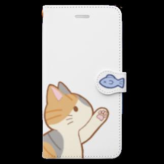 ゆめかわ屋 いそぎんちゃくのお魚にゃー 縞三毛 Book-style smartphone case