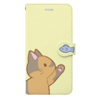 お魚にゃー 錆 Book-style smartphone case