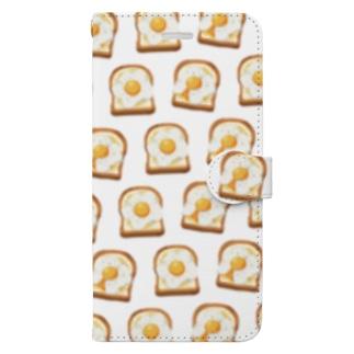 卵トースト[白] Book-Style Smartphone Case