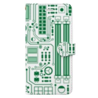 基盤柄 Book-style smartphone case