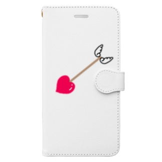 ♥ラブラブキューピッドの矢♥ Book-style smartphone case