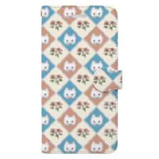 Maiolica cats Book-style smartphone case