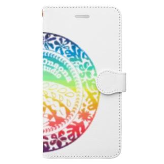 クウレイオナオナフラスタジオ ロゴ 2020summer ver. Book-style smartphone case