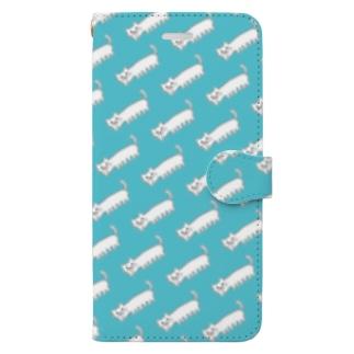 パノラマねこ/シームレス Book-style smartphone case