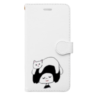 relaxにゃんこ Book-style smartphone case