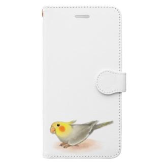 オカメインコ レキ【まめるりはことり】 Book-style smartphone case