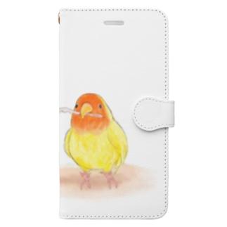 コザクラインコ レイ【まめるりはことり】 Book-style smartphone case