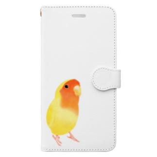 コザクラインコ おすましルチノー【まめるりはことり】 Book-style smartphone case
