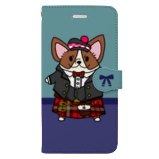 キルトコーギー Book-style smartphone case