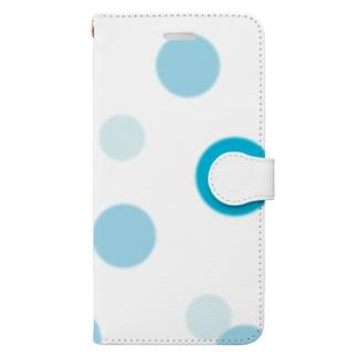 やまとねこのソーダの水玉 Book-style smartphone case