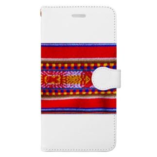 民族調 Book-style smartphone case