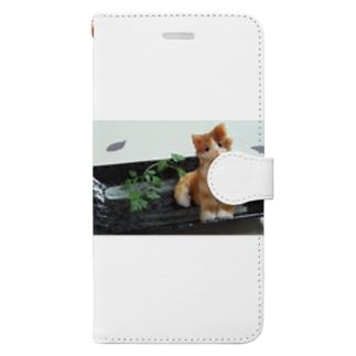 大根おろしアート/ちゃげ Book-style smartphone case