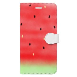 夏スイカ Book-style smartphone case