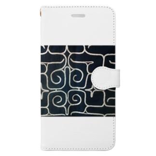 アイヌ文様 Book-style smartphone case