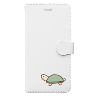 ゆるい かめ Book-style smartphone case
