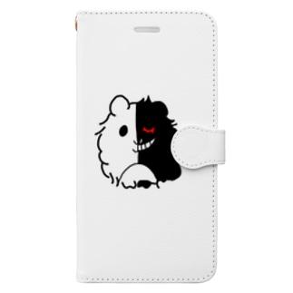 モルモット 天使と悪魔 Book-style smartphone case
