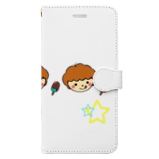 オリジナルイラスト1のよくばりグッズ Book-style smartphone case