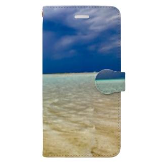 ビーチ Book-style smartphone case