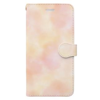 水彩だいだい Book-style smartphone case