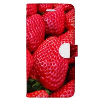 採れたて苺 Book-style smartphone case