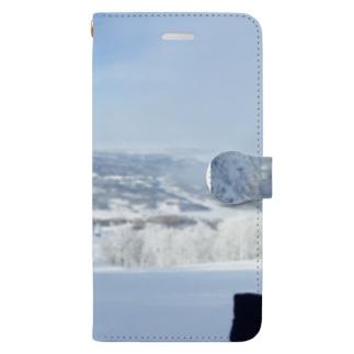 樹氷とともに Book-style smartphone case