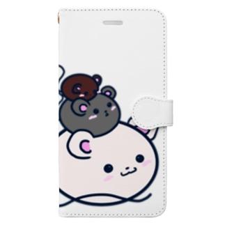 3匹の鼠 Book-style smartphone case