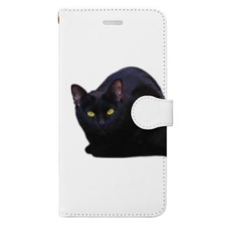 星屑のくろねこ。 Book-style smartphone case