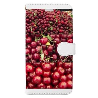 市場のチェリー Book-style smartphone case
