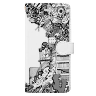 とじこもりちゃん(モノクロver) Book-style smartphone case