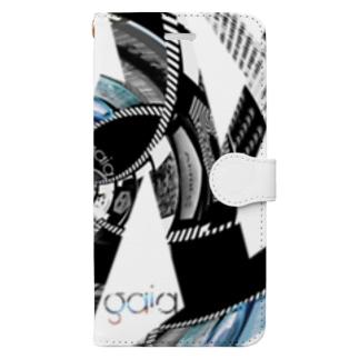 渦巻く並行現実 Book-style smartphone case