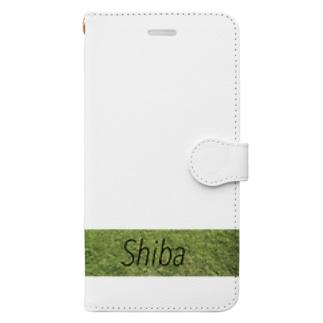 芝生。 Book-style smartphone case