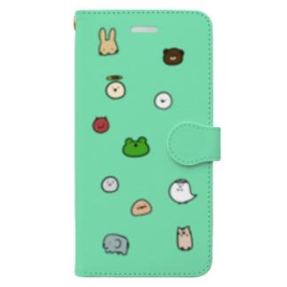 かえるさんとおともだちたち Book-style smartphone case