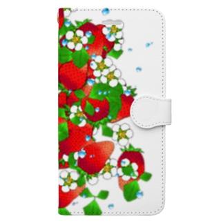 フレッシュ☆ストロベリー Book-style smartphone case