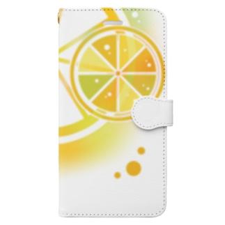 フレッシュオレンジ Book-style smartphone case
